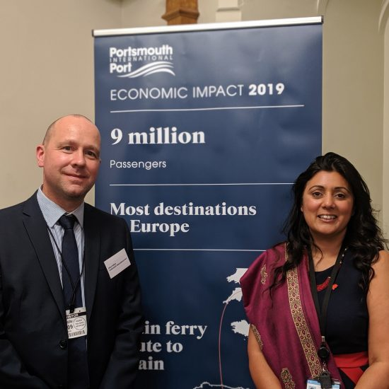 Port director Mike Sellers and Maritime Minister Nusrat Ghani MP